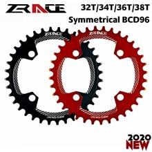ZRACE BCD96 BCD96 метричные кольца, 32T 34T 36T 38T AL7075 CNC процесс, Vickers-твердость 15 + для MTB 2020