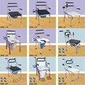 200-2K мобильное сиденье для унитаза  педаль для унитаза  инвалидная коляска  регулируемая высота  унитаз для инвалидов  уход за человеком из н...