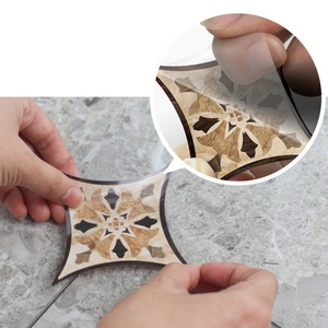 Image 1 - 21pcs עצמי דבק PVC קרמיקה אריחי מדבקות עמיד למים קיר מדבקת אמנות אלכסוני רצפת מדבקות מדבקה דקורטיבית