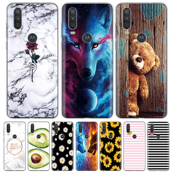For Moto One Action Case Marble Silicone Soft TPU Phone Cases For Motorola One Action Cover Coque For Moto One Macro Vision Capa