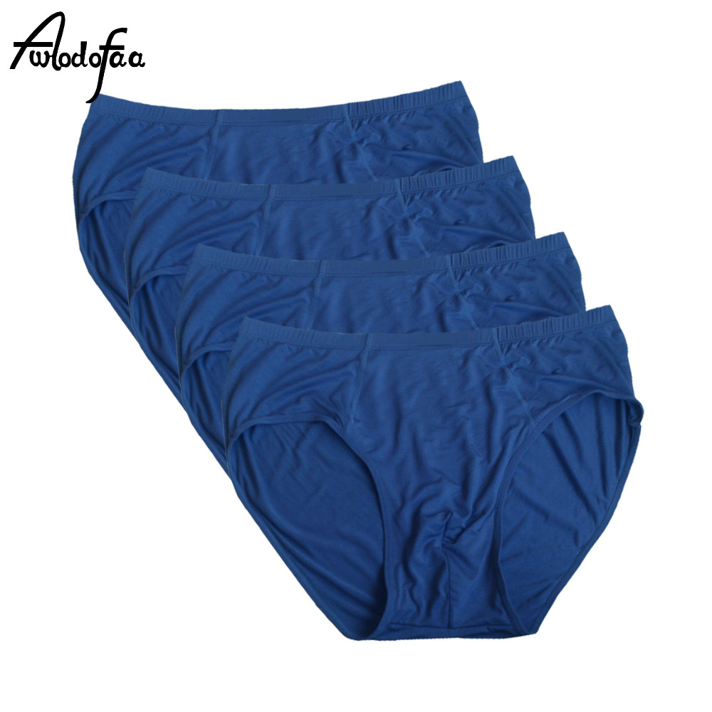 4 pçs/lote calcinha masculina super grande plus size 9xl alta qualidade ceia grande men briefs ropa hombre macio fibra de bambu roupa interior breve