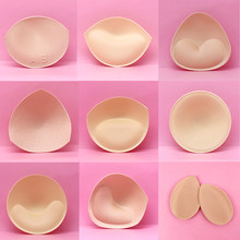 2pcs 1pair Sponge Inserts In Bra Padded for Swimsuit Breast Push Up Fill Brassiere Breast Patch Pads Women Intimates Accessories