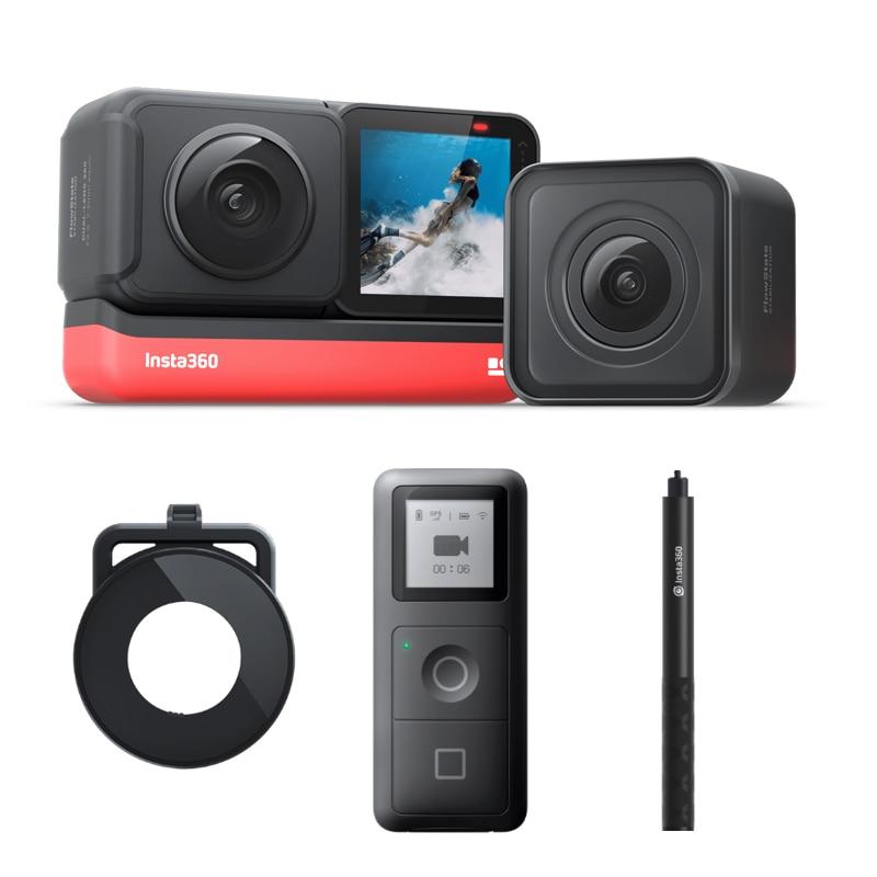 Insta360 один R Twin, новинка, Спортивная Экшн-камера Камера 5,7 K 360 4K широкоугольный Водонепроницаемый видео Камера