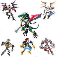CHIMAED Super Heroes Fakten Bausteine Waffe Qigong legendären Tier Modell Bricks Spielzeug Für Kinder
