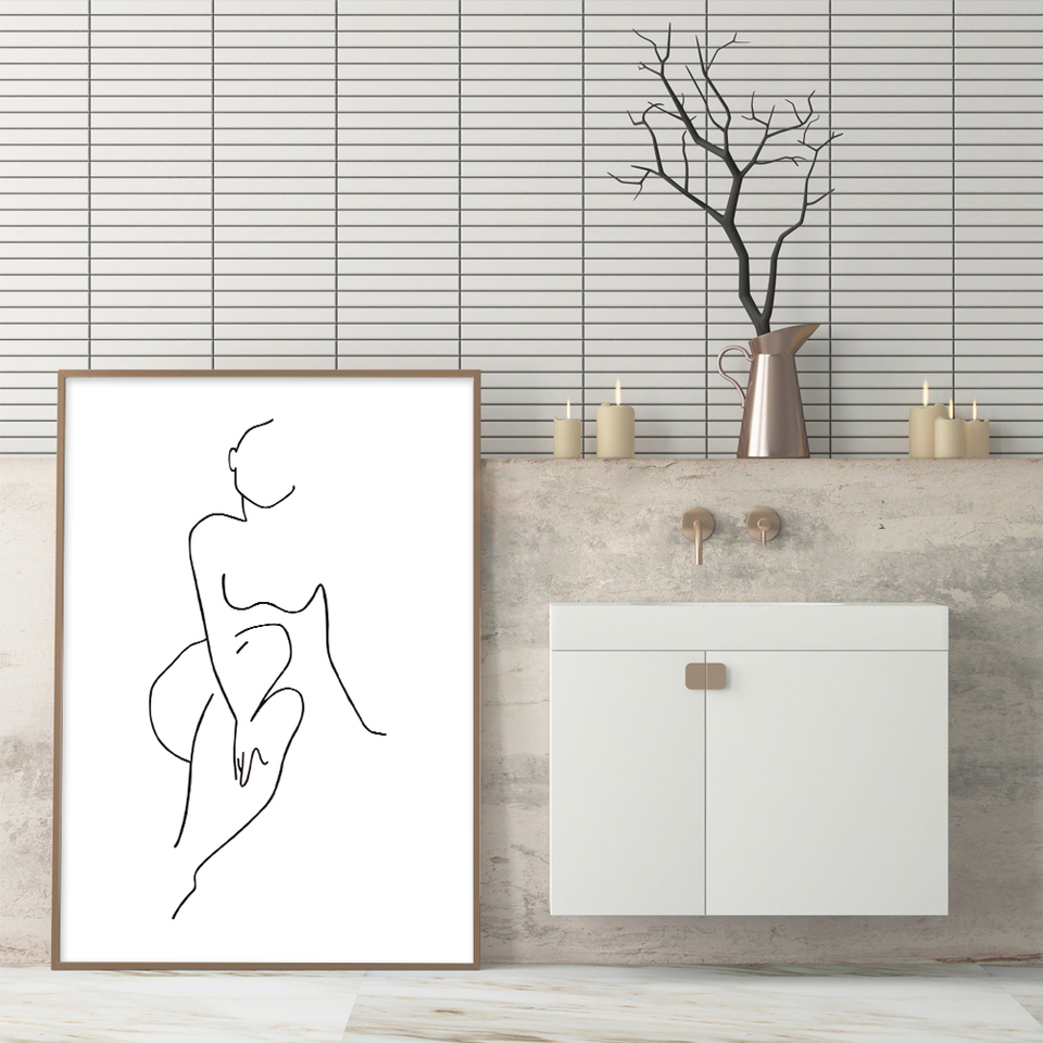 Sexy Woman Body Poster Print Get Naked Quotes Canvas Painting Modern Abstract Minimalist Art For Living Bathroom Home Decoration Painting Calligraphy Aliexpress