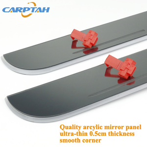 Image 5 - CARPTAH לקצץ חיצוני מכונית דוושת חלקי LED דלת אדן שפשוף צלחת מסלול סרט דינמי אור ליונדאי טוסון 2015  2018