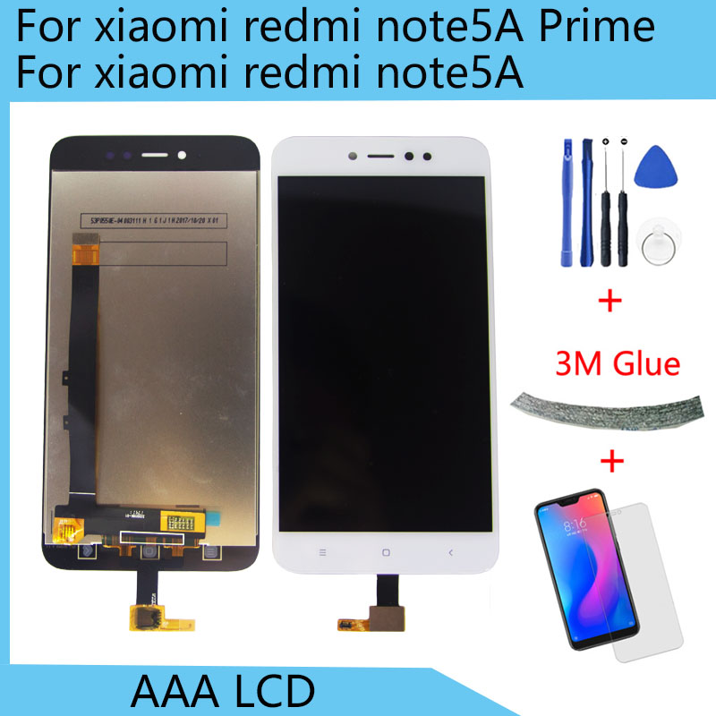 Für Redmi Hinweis <font><b>5A</b></font> Note5A Hinweis <font><b>5A</b></font> <font><b>Prime</b></font> Pro LCD Display Panel <font><b>Screen</b></font> Modul + Touchscreen Digitizer Sensor Montage image