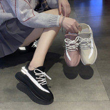 2020 Spring New Wild Fly Weaver Shoes Korean Students Running Ins Sneakers Women Street Leisure