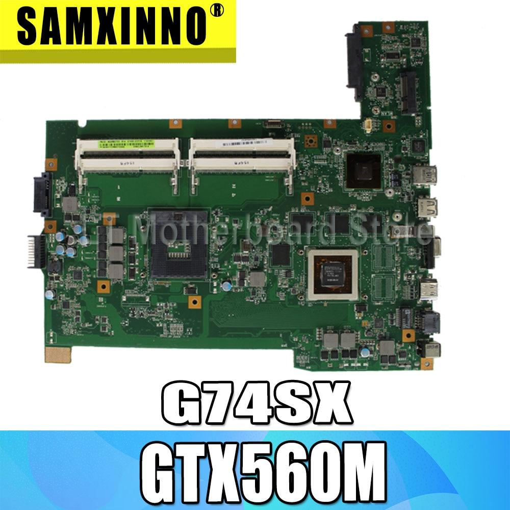 G74SX Motherboard 2D GTX560M 2G For ASUS G74SX G74S G74 Laptop Motherboard G74SX Mainboard G74SX Motherboard Test 100% OK