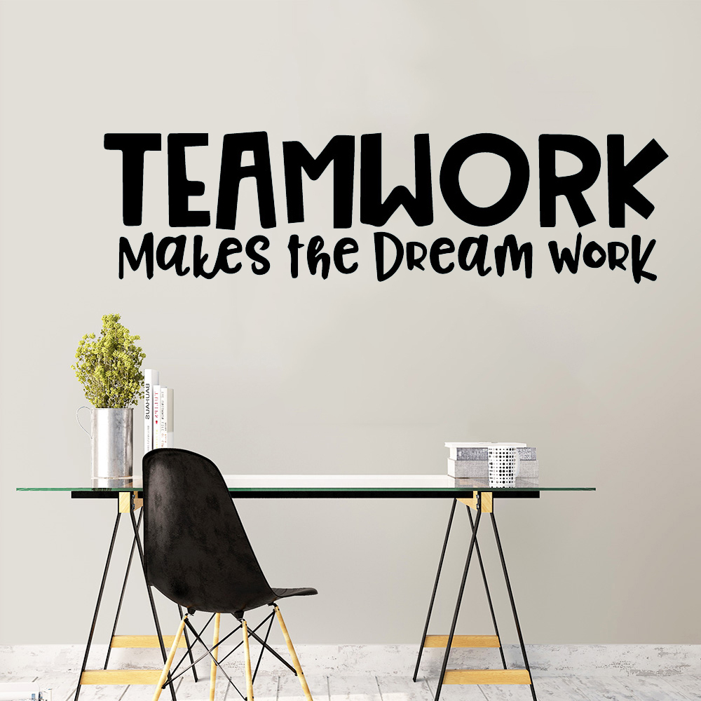Hot Teamwork Sentence Vinyl Decals Wall Stickers For Kids Rooms Nursery Room Decor For Kids Rooms Diy Home Decoration