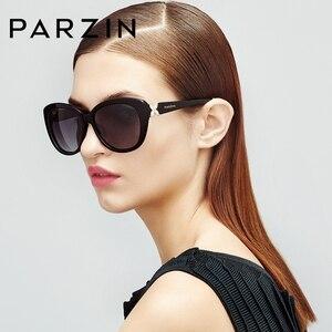 Image 4 - PARZIN Quá Khổ Kính Mát Nữ Thương Hiệu Cao Cấp Phân Cực Với UV400 Ống Kính Bướm Kính Chống Nắng Vintage Kính Mắt Oculos De Sol