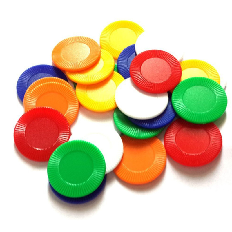 90Pcs/set 23×2.2mm Sun Flower Plastic Poker Chips Mahjong Chip No Value Coins For Gaming Tokens Plastic Coins Currency Props