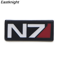 V280 Game Mass Effect Metal Enamel Pins and Brooches Fashion Lapel Pin Backpack Bags Badge Collection