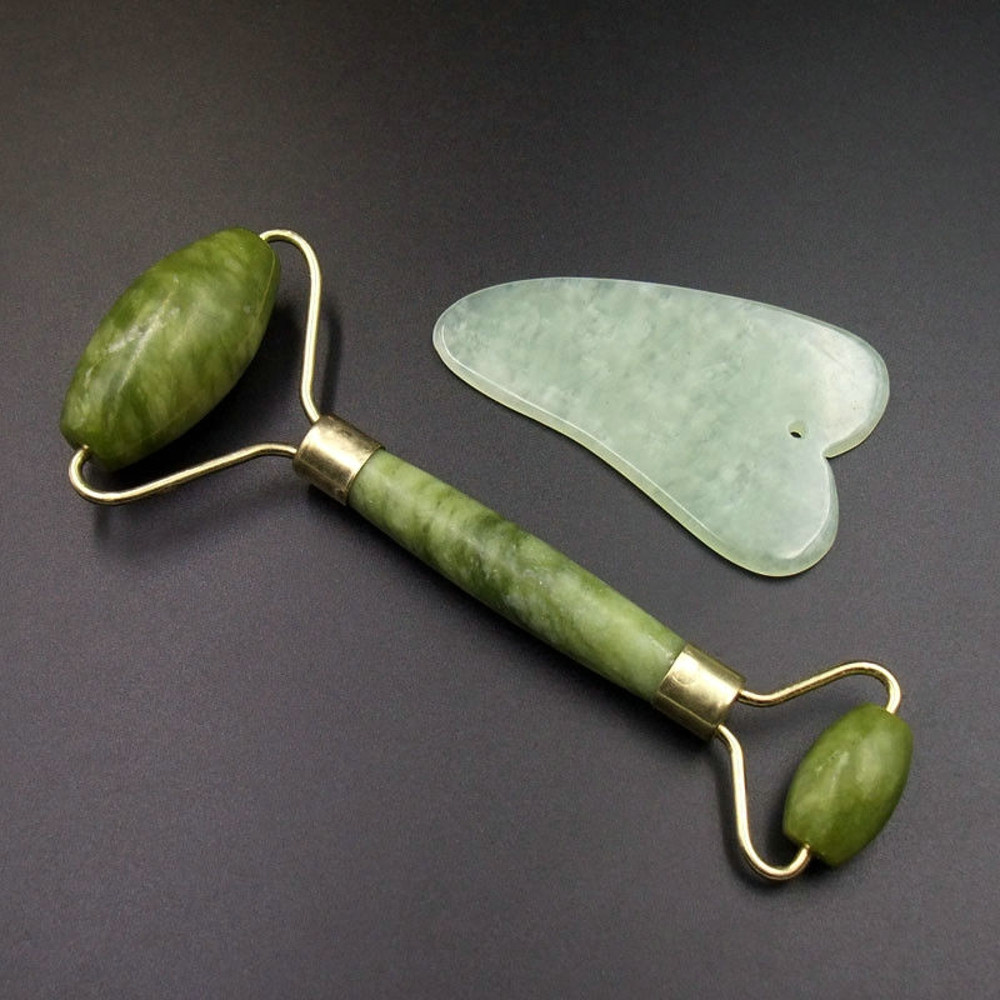 Jade Roller Massager Gua Sha Facial Massage Chinese Medicine Natural Jade Board Scraping Tool Dropshipping Hot #40