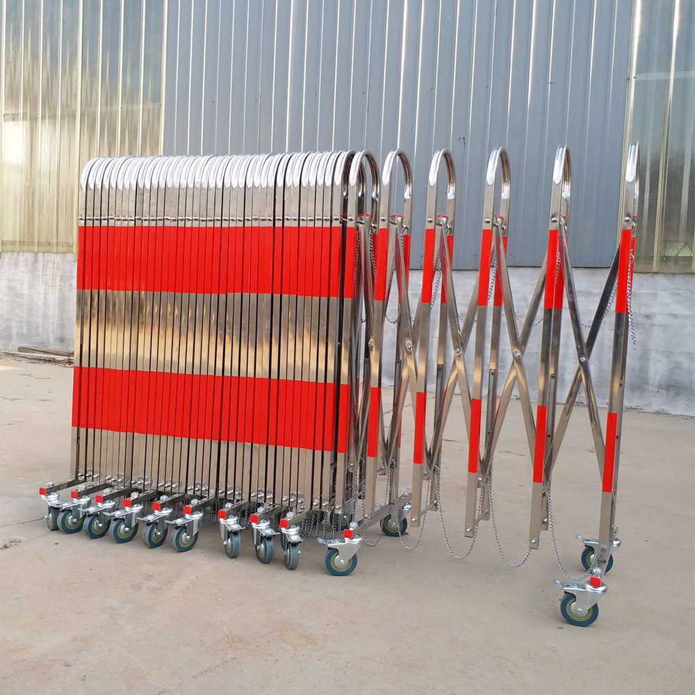 Security & Protection,Telescopic Fences Stainless Steel Security Fence Movable Folding Isolation, FenceTraffic Barrier
