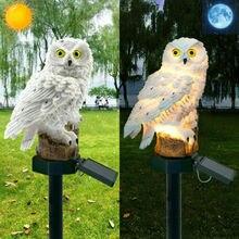 Светодиодный светильник, Декор, солнечные садовые светильники, украшение в виде совы, животное, птица, на открытом воздухе, на солнечных батареях, для двора