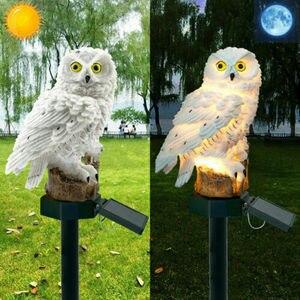 Светодиодный светильник, украшение для сада на солнечной батарее, украшение в виде совы, уличная птица с питанием от солнечной батареи