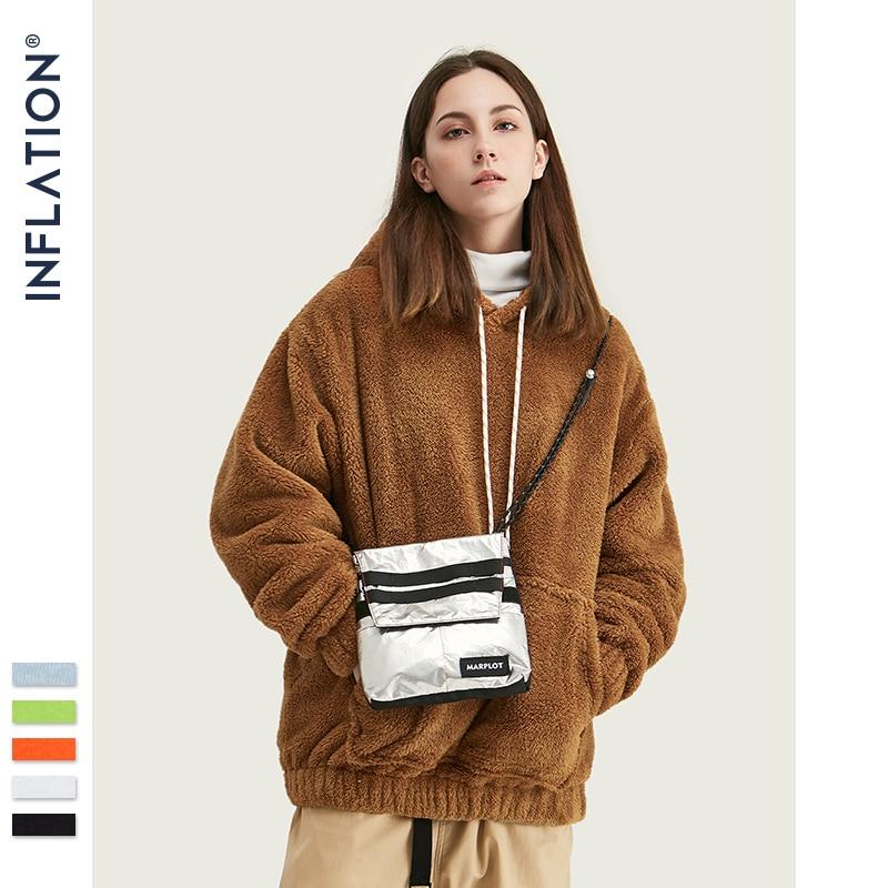 INFLATION Men's 2019 Autumn Winter Hoodies Hip Hop Casual Cotton Pullover Men Hoodies Skateboard Men Winter Wool Hoodies 8778W