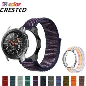Gear S3 Case+strap For Samsung Galaxy watch 46mm 42mm strap samsung Frontier/classic S 3 gear sport S2 nylon bracelet