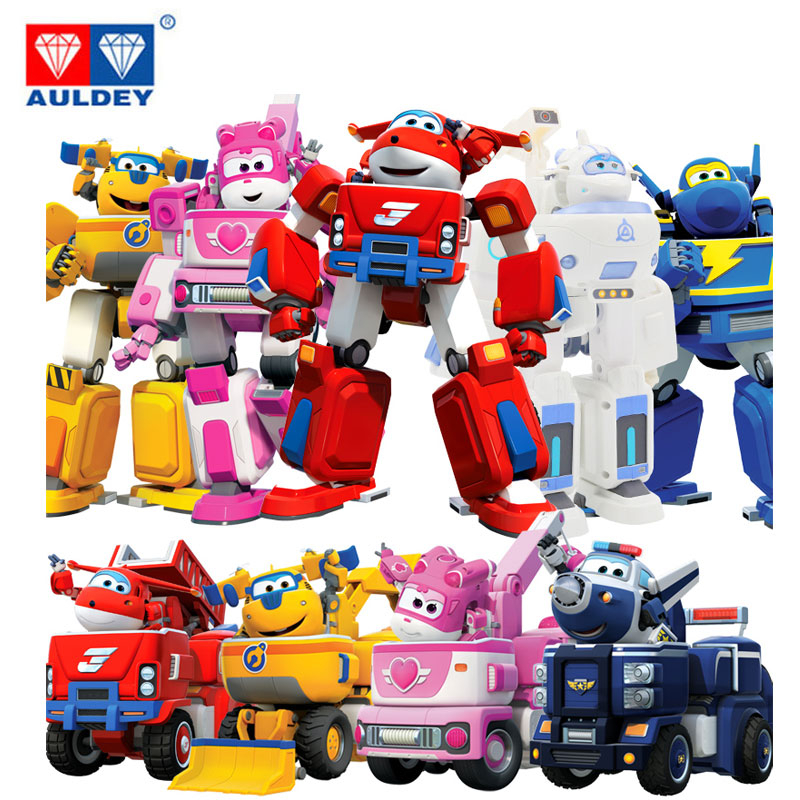 New Big Deformation Armor Super wings Rescue Action Figure Super Wing Transformer Robot Fire Engines Toys for children Kids Gift