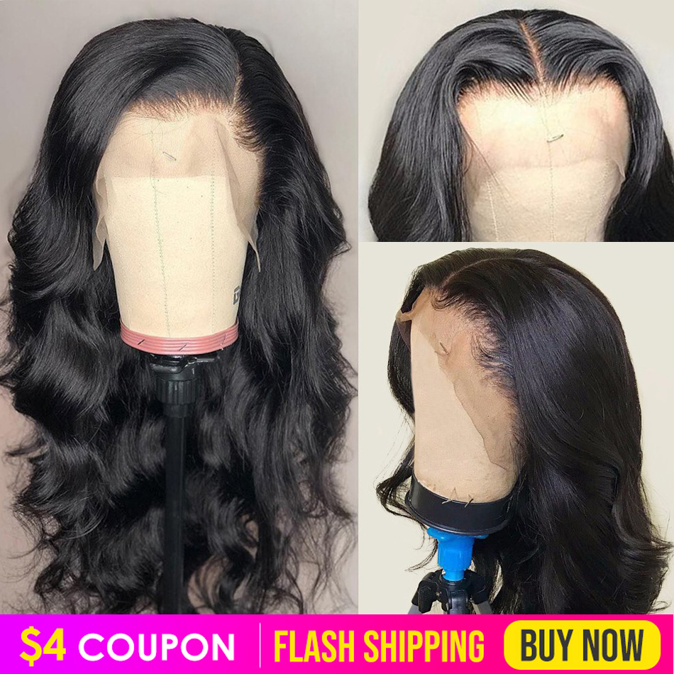 Lace Front Human Hair Wigs Pre Plucked Body Wave Wig Virgo 13x4 8-26 Inch 150% Peruvian Remy Hair Lace Frontal Wigs For Women