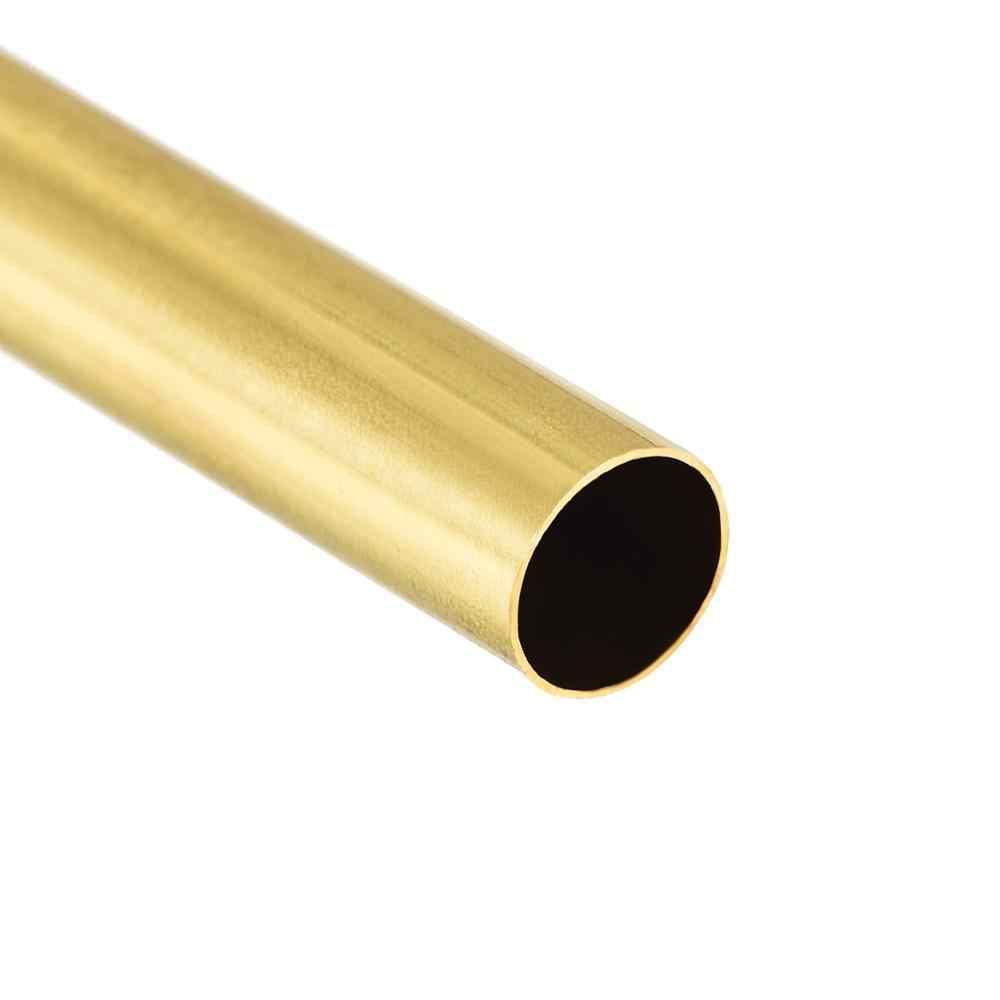 Brass Round Tube 300mm Length 3.5mm OD 1mm Wall Thickness Seamless Tubing 2 Pcs
