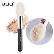 BEILI – Pinceau de maquillage à poignée noire, applicateur de poudre compacte, d'illuminateur, de paillettes, outil professionnel à poils très doux, fibres en laine, accessoire beauté,