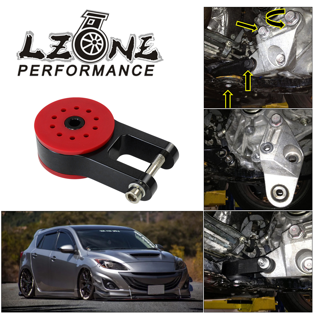 LZONE - 85A Polyurethane T6061 Aluminum Rear Motor Mount For 13-18 Ford Focus ST 16-18 Focus RS 07-13 Mazda speed 3 JR-TSB06