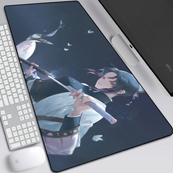 anime Demon Slayer Kimetsu No Yaiba Gaming Large Mouse Pad Computer Mousepad Lock Edge Keyboard Desk Mat Christmas gifts