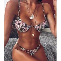 Одноцветный комплект бикини, пуш-ап, купальник, сексуальный женский купальник, бикини, Feminino, бикини, 2020, купальник для женщин, Maillot De Bain 6