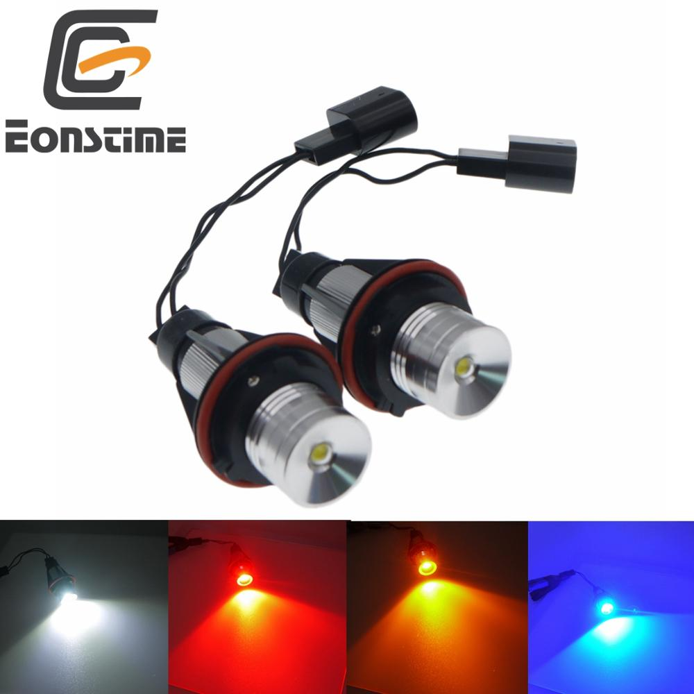 Eonstime 2Pcs 5W Error Free LED Angel Eyes Marker Lights Bulbs For <font><b>BMW</b></font> E39 E53 <font><b>E60</b></font> E61 E63 E64 E65 E66 E87 525i 530i xi <font><b>545i</b></font> M5 image
