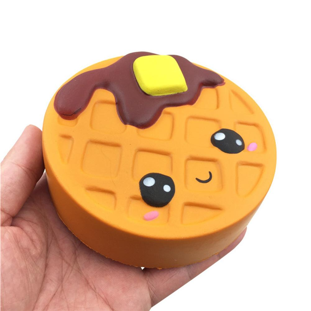 Jumbo Cheese Chocolate Biscuits Cute Squish Slow Rising Soft Squeeze Toy Phone Strap Scented Relieve Stress Funny Kids Xmas Gift