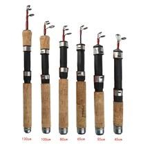 Winter Ice Telescopic Fishing Rods Hard Carbon Fiber Carp Fly Pole Spinning Casting 130cm/100cm/80cm/65cm/55cm/45cm