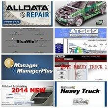2021 sıcak Alldata 10.53 yazılımı OD5 tüm veri + ElsaWin + canlı + atsg + AutoData + ağır kamyon oto tamir teşhisi 24 in 1tb hdd usb3.0