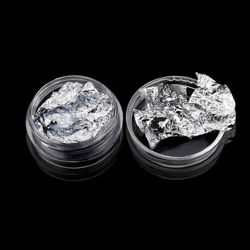 Glitter Carta Stagnola Unghie Artistiche Adesivi Uv Del Gel di Cristallo Manicure Tin Foil Decalcomanie Nails Designs Super Brillante Paillette Unghie Artistiche Decor