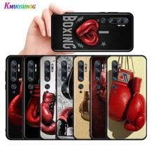 Guantes de boxeo para Xiaomi Mi 11, 10, 9, 9T, 9SE, 8 Por A3, A2, A1, 6X, 5X, Lite, Ultra Play Note 10 Lite, color negro