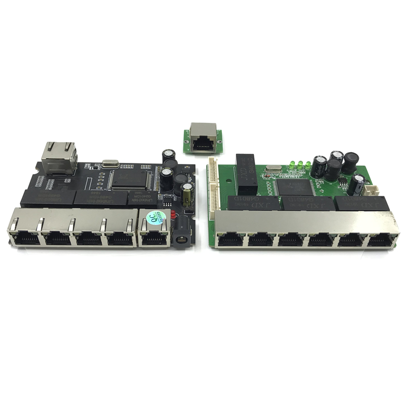 8 Port  OEM PBC Gigabit Ethernet Switch 8 Port Met 8 Pin Way Header 10/100/1000 M Hub 8way Power Pin Pcb Board OEM Schroef Gat