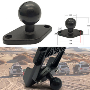 Image 1 - JINSERTA 1 Inch ( 25mm ) Ball Adapter w/ Diamond Plate Compatible for RAM Mounts for Garmin ZUMO Plate for Gopro Camera & Phone