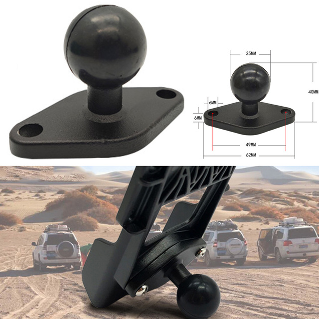 JINSERTA 1 Inch ( 25mm ) Ball Adapter w/ Diamond Plate Compatible for RAM Mounts for Garmin ZUMO Plate for Gopro Camera & Phone