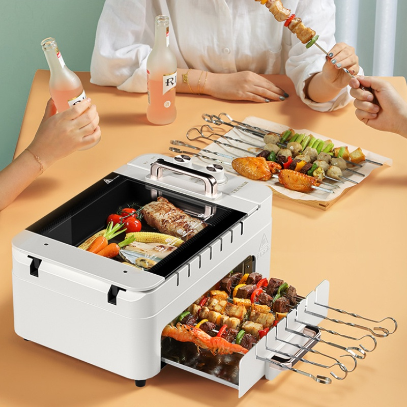 Automatic Smokeless Rotary Electric Oven