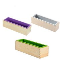 Силиконовая форма для мыла прямоугольная деревянная коробка