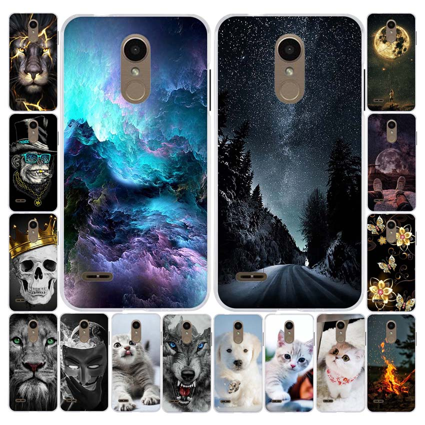 A TPU Phone Case For LG K8 2018 LG K9 For LG Aristo 2 Coque Silicone Patterned Fundas Soft Cover Housing Shell 5.0 Inch