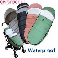 Universel bébé poussette accessoires hiver chaussettes sac de couchage coupe-vent chaud sac de nuit bébé poussette chancelière pour Babyzen yoyo