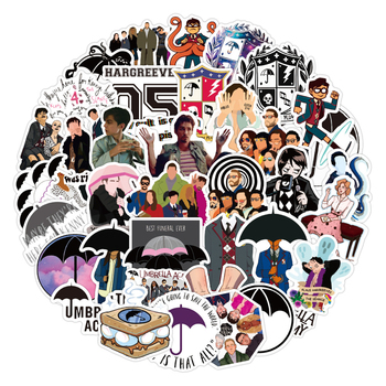 50pcs/pack The Umbrella Academy Classic TV Show Graffiti Stickers For Box Computer Skateboard Notebook Car Children's Toys Etc image