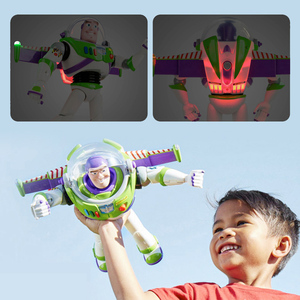 Image 1 - 43cm Toy Story 4 Buzz Lightyear Toy Story Talking Lights Speak English Joint Movable Action Figure Anime Collectible Doll