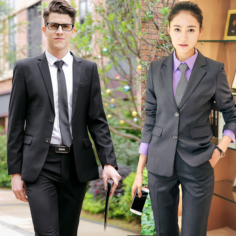Wear Men And Women Celebrity Style Top Grade Business Suit Formal Wear Hotel Manager Office White Collar Work Suit