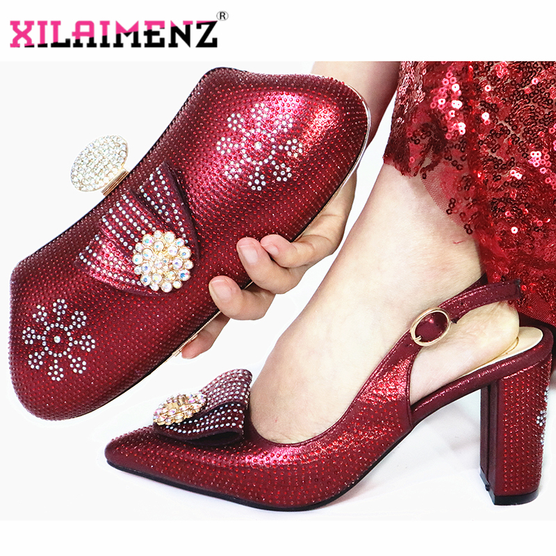 Image 5 - Orange Color New Fashion Elegant Autumn Women Party Shoes And Bag