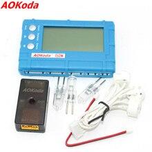 AOKoda 150W 3 in 1 RC 2s 6s Lipo Li Fe Batteria Balancer LCD + tensione del Tester del Tester + Scaricatore