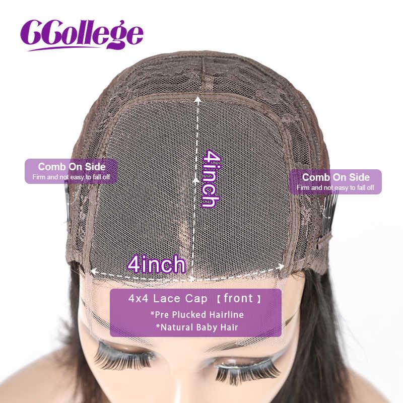 4x4 кружева закрытие парик тупым срезом Боба парик перуанский прямые волосы Кружева Закрытие парики для черные женские волосы Remy парики из натуральных волос