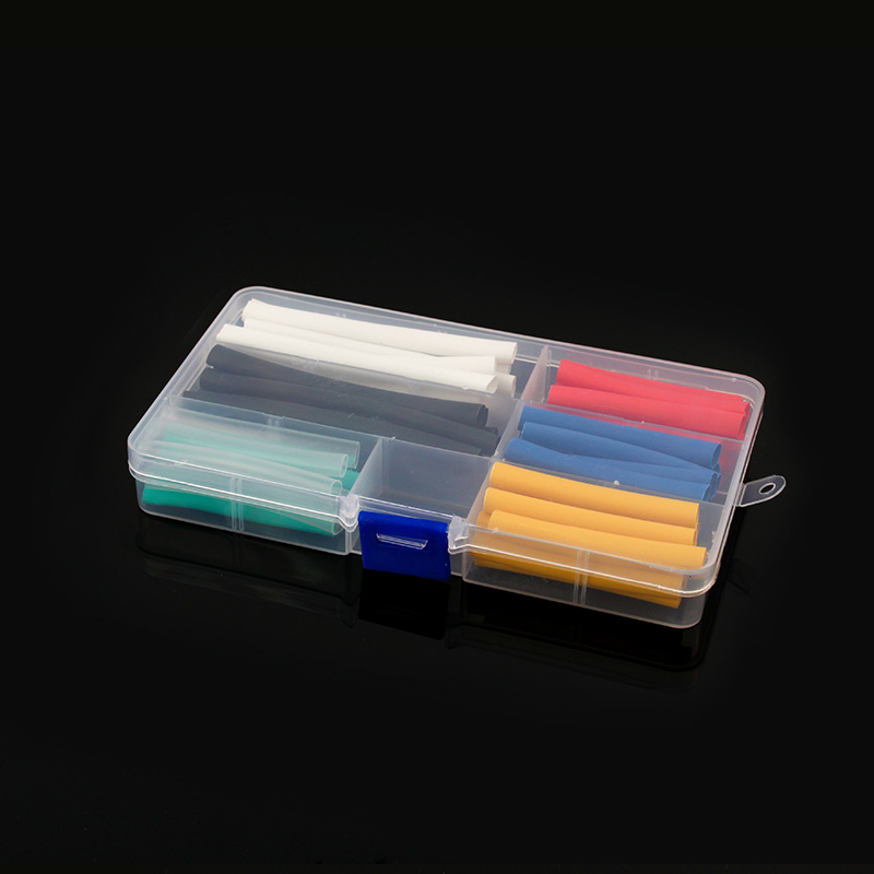60pcs Heat Shrinkable Tube Insulation Sleeve Termoretractil Polyolefin Shrinkage Ratio 2: 1 For Data Line Headset Repair